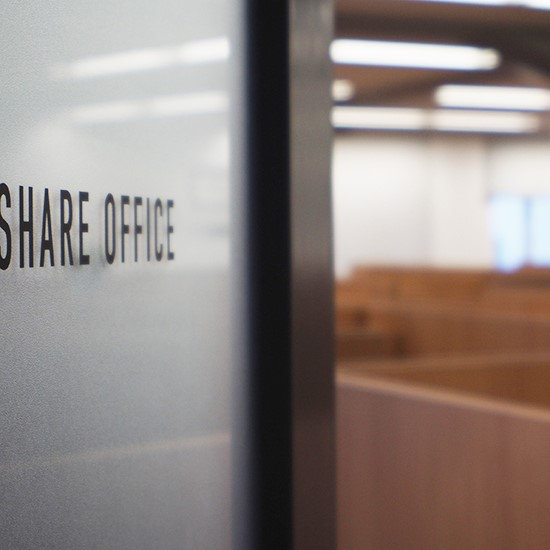 SHARE OFFICE ENTRANCE